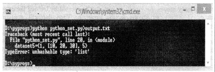 Python Programming - Python Sets chapter 5 img 1