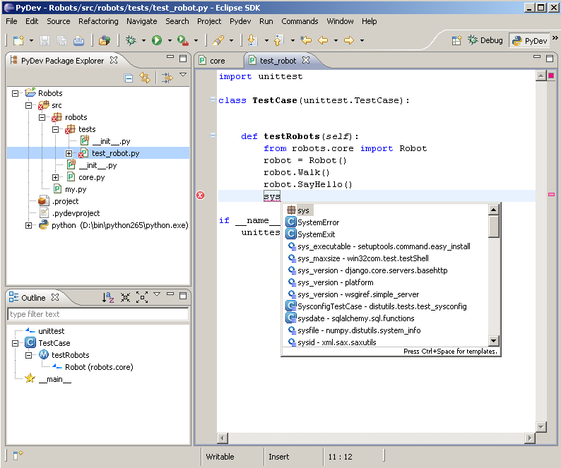 Eclipse with PyDev 2