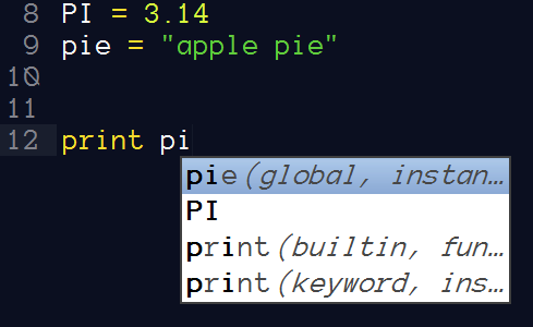 Python auto completion with the help of SublimeROPE plugin