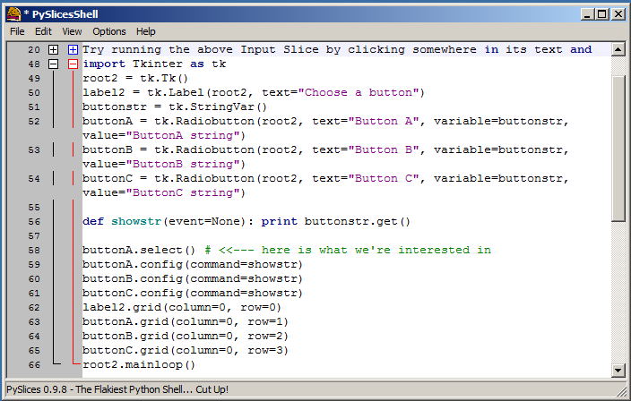 Step 2 Type the code from the example into the next free space