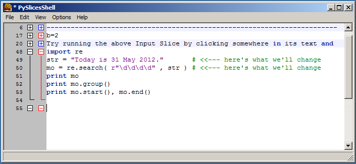 UsingPySliceswith Regular Expressions
