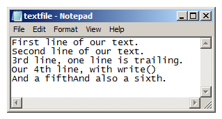 Writing Multiple Lines to a File in Python