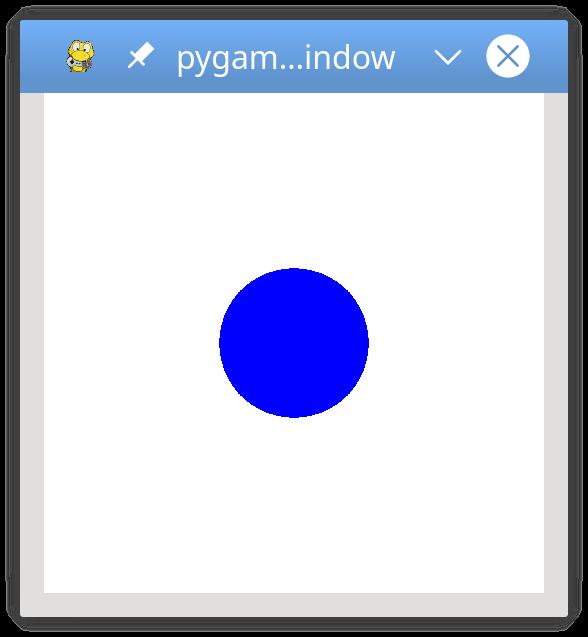 basic pygame program in python