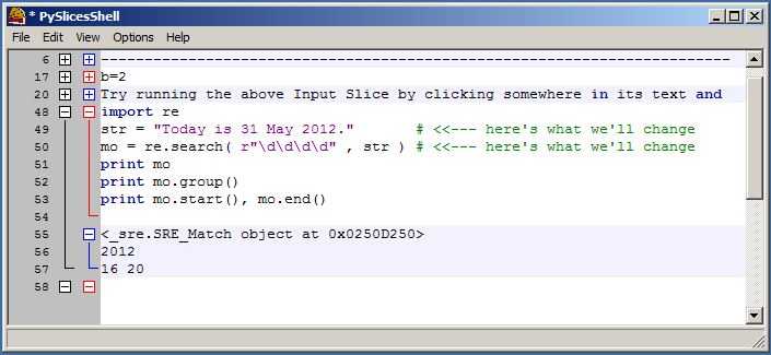 hit the shortcut to run the script (e.g. Ctrl-Return) and see the output