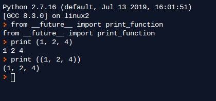 Example 5. Future Directive in Python 2.