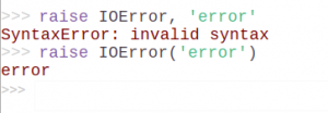 Example 9. Raise errors in Python 3.