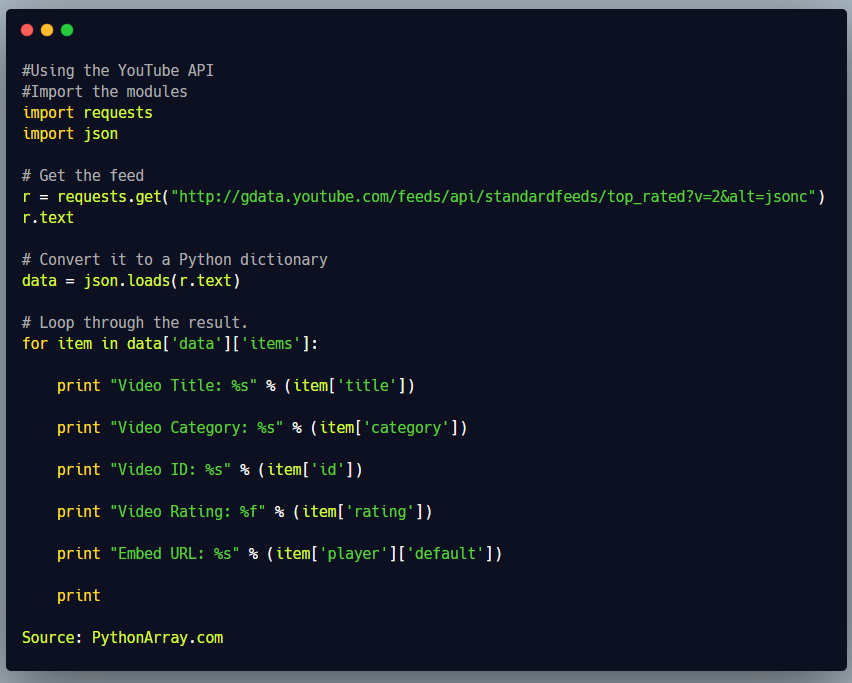 How to access various Web Services in Python