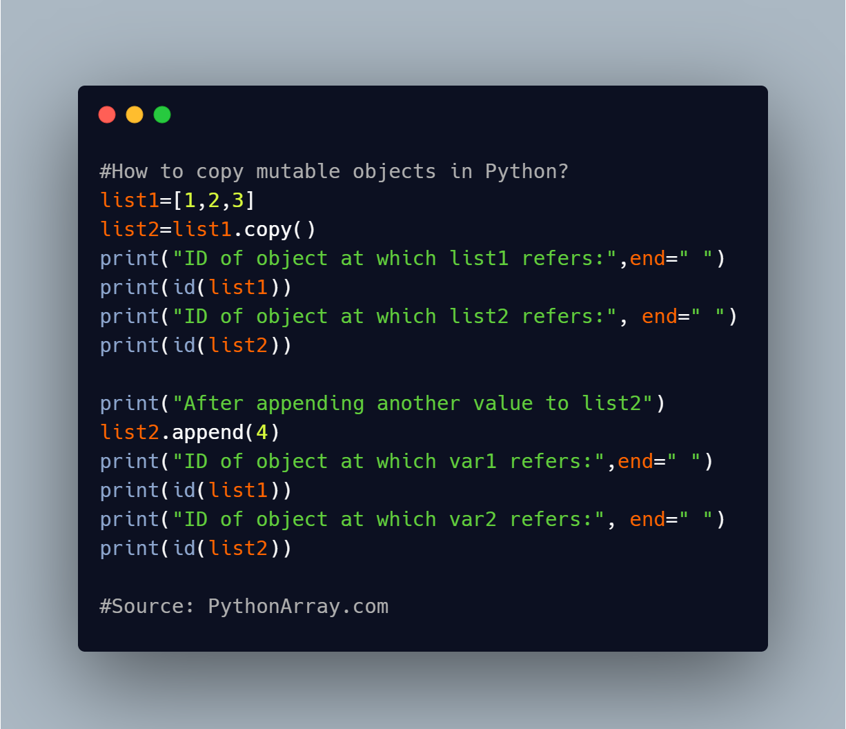 How to copy mutable objects in Python 2