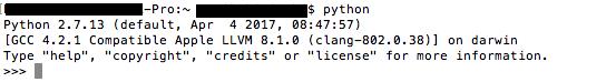 Interactive Python Scripting Mode On Mac OSX
