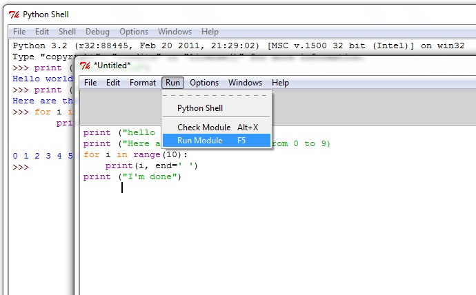 Running Python Scripts from a Text Editor