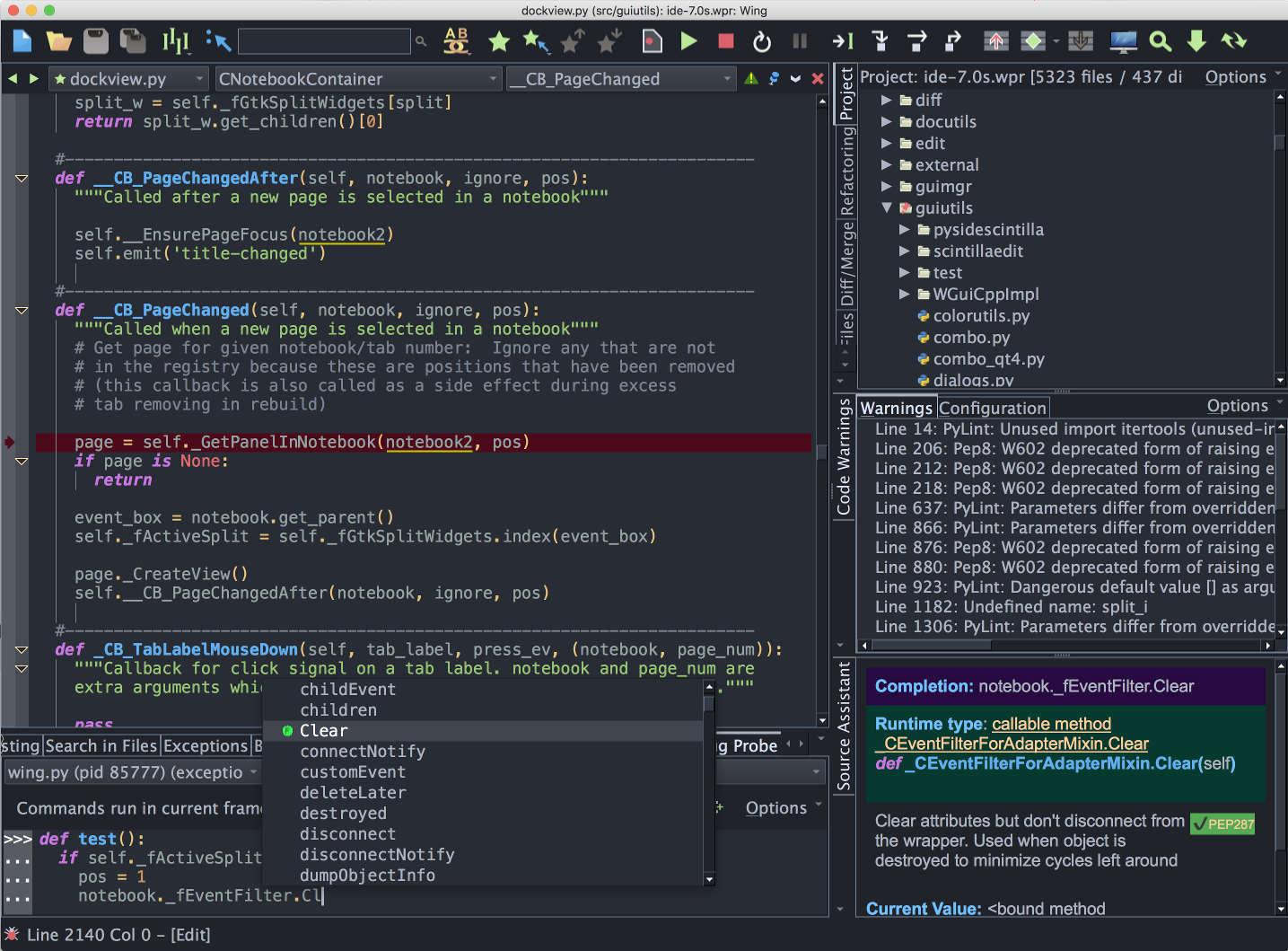 Wing Python IDE 1